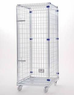 Wire Containers | Wire Containers For Security With 2 3 4 Sided Wire Containers